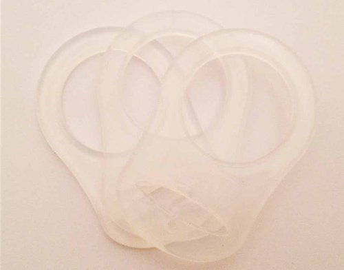 KAMsnaps 10 Silicone Adapter Rings for Button style MAM NUK Baby Pacifier Ribbon Clips