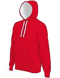 KBK446 Contrast Hooded Sweatshirt Kapuze