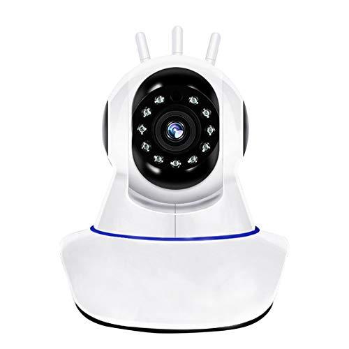 Qsl Drahtlose Überwachung Webcam WiFi Home Security Remote 1080P Babymonitor Netzwerkkamera (Size : 3 Antenna 100W (720P)+64G Card) -