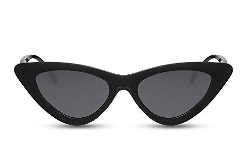 Cheapass Cat-Eye Sonnenbrille Schwarz Fashion Designer-Brille UV-400 Lichtschutz Frauen Damen