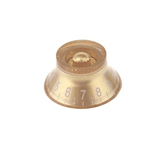 Musiclily tamaño métrico sombrero del estilo de plástico de control de velocidad Tiradores de Gibson Les Paul de la guitarra eléctrica de piezas, Oro (paquete de 4)