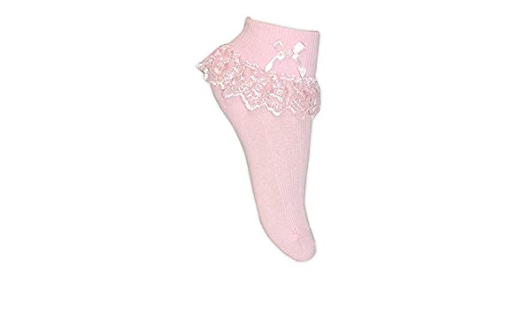 000 Pink 1 Pair 0-3 Months Girls Babies Lace Frily Party Socks Single and Assorted 3 Pairs
