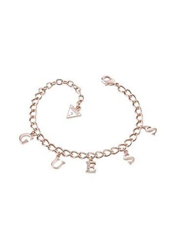 Iconic Charme Guess-Bracciale in oro rosa, con ciondoli UBB61082-L