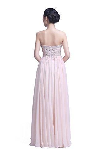 YiYaDawn Langes Raffiniertes Abendkleid Ballkleid Festkleid für Damen Champagner