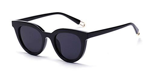 Kuletieas schwarze cat eye sonnenbrille klassische frauen retro cat eye sonnenbrille für frauen männer weiß rot uv400 @ schwarz