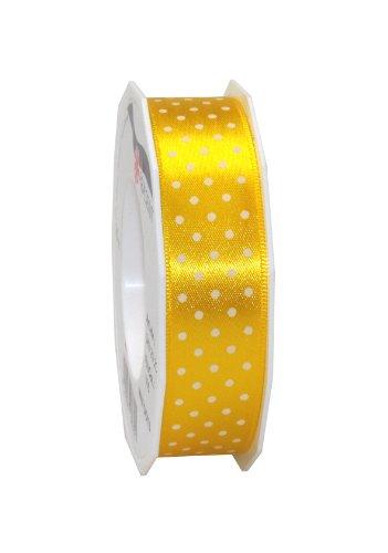 Präsent 3432520-605 - Cinta de tela (20 m, 25 mm de ancho), diseño de lunares, color amarillo