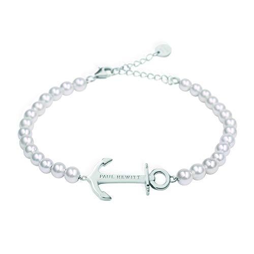 PAUL HEWITT Perlenarmband Damen Anchor Spirit - Armkette Damen mit Anker Schmuck aus Edelstahl (Silber)