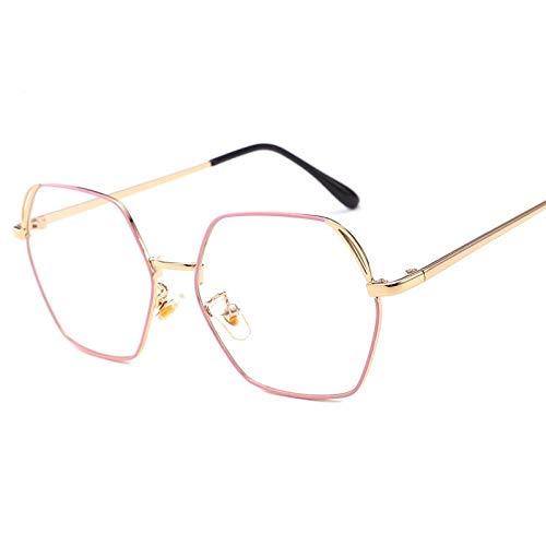TYJYY Sonnenbrillen Neue Retro Brille Männer Erwachsenen Retro Flachen Spiegel Metall...
