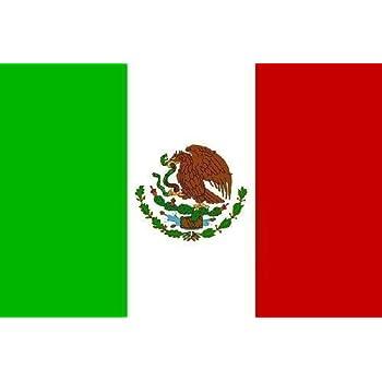 Top Qualität - Flagge MEXIKO Mexico Fahne, 250 x 150 cm, EXTREM REIßFEST, Keine BILLIG-CHINAWARE, Stoffgewicht ca. 100 g/m², sehr robust, extra starke Messing-Ösen - mehrfach umlaufend genäht, ideal als Hissflagge Hissfahne für Innen/Außen, für Haus, Garten zur Deko