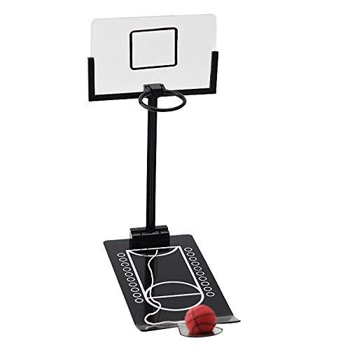 Mini Basketball Spielzeug Party werfen Spiel Basketball Tischspiel Desktop Shooting Hoop Spiele Innen Basketball Spiel Geschenk für Kinder Mädchen Jungen (Schwarz)