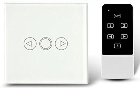Green Energy EU standard Interrupteur variateur, interrupteur mural, panneau verre couleur blanc, Applique murale Variateur tactile, télécommande Interrupteur