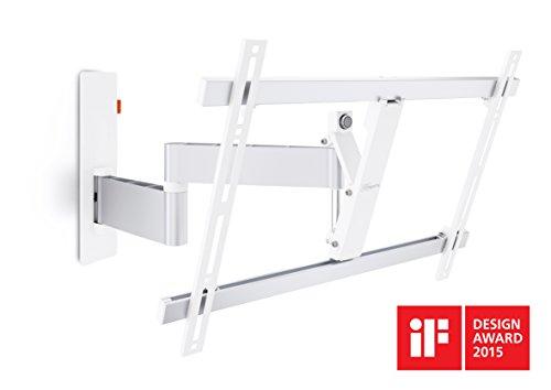 Vogel's WALL 2345 TV-Wandhalterung für 102-165 cm (40-65 Zoll) Fernseher, 180° schwenkbar und neigbar, max. 30 kg, Vesa max. 600 x 400, weiß