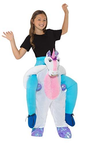 Smiffys SMIFFY 'S 49691Kids Piggyback Einhorn Kostüm, Mädchen, Pink/Weiß, eine Größe