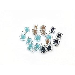 Alohha, Bunte Pinnnadeln in wiederverwendbarem Behälter, dekorative Ergänzung für Zuhause und im Büro, 80Stück Green-Black-Brown