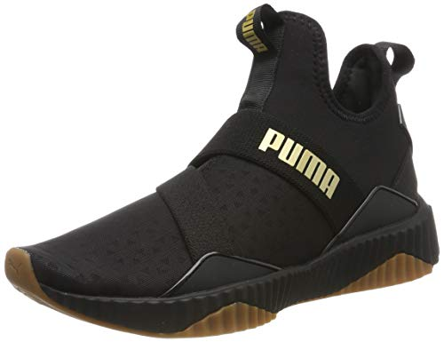 Puma Damen Defy Mid Sparkle WN's Fitnessschuhe, Schwarz Black-Metallic Gold, 39 EU (In Sneaker Gold)