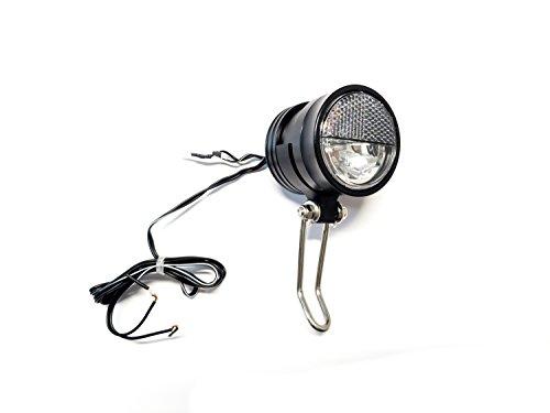 Büchel Fahrrad Alu Lampe LED Scheinwerfer Front Licht Secu Evolution S 40 Lux (1 Watt Led Fahrrad Licht)