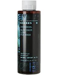 KORRES Natural Blue Sage, Lime & Fir Wood Shower Gel 250 ml, Vegan