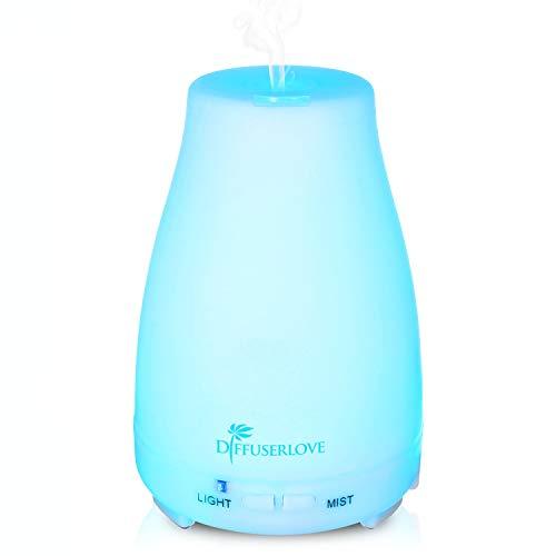 Diffuserlove MAX 200ML Aroma diffuser Ultraschall Luftbefeuchter Tragbarer Öl Diffusor Aromatherapie Cool Mist Humidifier mit 7 Farben LED und AUTO-Abschaltung Funktion, Perfekt für SPA, Yoga