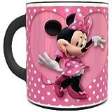 Ceramic Heat Sensitive Magic Coffee Mug with Minnie Mouse Polka Dot Design