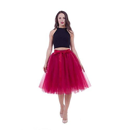 Damen Tüllrock 50er Rockabilly Petticoat Tutu Unterrock Kurz Ballett Tanzkleid Ballkleid Abendkleid...