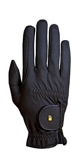 Roeckl Sports -Roeck Grip Junior- Handschuh, Kinder Reithandschuh, Schwarz, 5