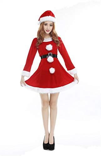 MAIMOMO Kostüme Für Erwachsene Bühne Leistung Kostüm Weihnachten Kostüm Damen Halloween Set Adult Sex Weihnachten Performance Show, Rot, Eine Größe (Adult Baby Halloween-kostüme)