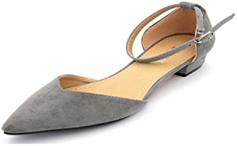 7e42ad2102c328 des chaussures chaussures chaussures de femmes / summer mode kphy velours  gris gris talon creux mince faible Chaussure s.thirty-five Gris b07fn7zhrp  parent ...