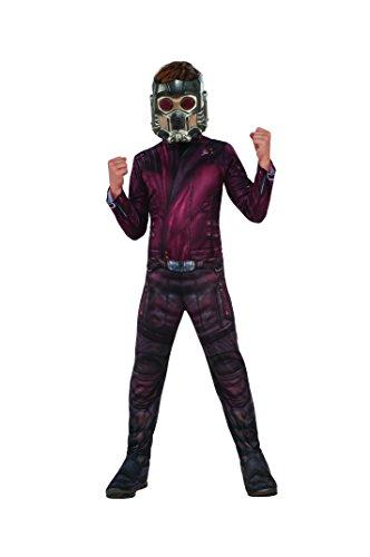 Lord Kostüm Star - Marvel-i-630775l-Kostüm Klassische Starlord mit couvre-bottes/Maske-8-10 Jahre