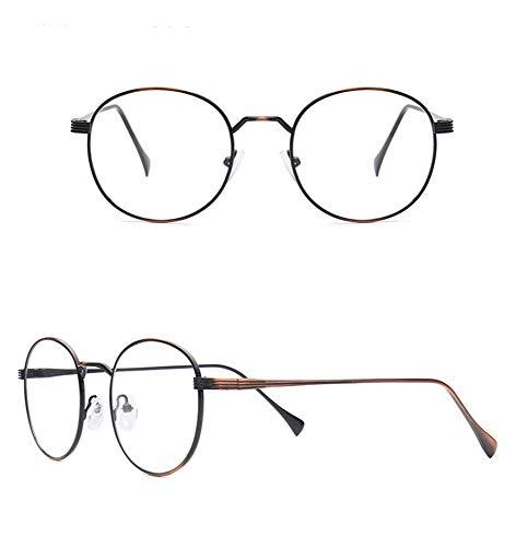 AdorabFrames Gläser flacher Spiegel Metall Brillengestell Retro Brillengestell Unisex gebürstetes Kupfer
