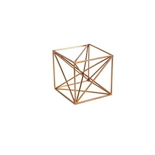 Zi ling shop- ornamenti decorativi ornamentali minimalisti geometrici oro palle d'oro props props supporto portatile candela creativo decorations ( colore : c )