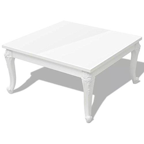 Tavolino 80x80x42 cm Alto Bianco Lucido.tavolino salotto tavolino da ...
