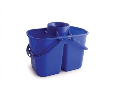 Doppio secchio mop, capacità: 15l, blu