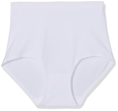 FM London Damen Taillenslip High Rise No Vpl, 3er Pack Weiß