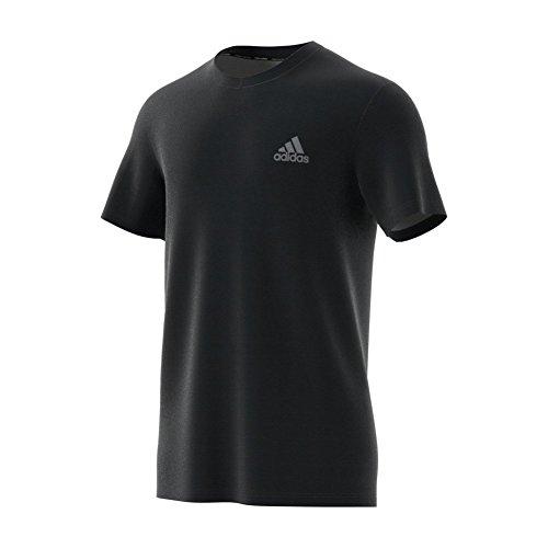 adidas Mens Essentials Tech Training Tshirt 3XLT Black-Charcoal Grey -