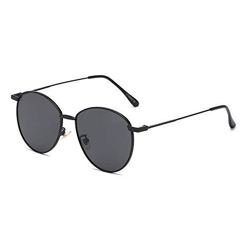 KoKoBin Pilot Sonnenbrille im militärischen Stil für Damen und Herren ultraleicht Metallrahmen Sonnenbrille mit Farblinse Schwarz