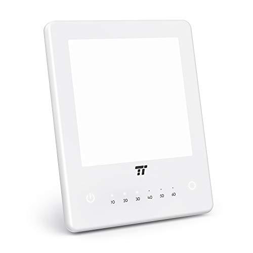 TaoTronics Tageslichtlampe 10000 Lux LED Lichttherapie Tageslicht Lampe mit 3 einstellbare Helligkeitsstufen, 10-60 Min Timer Einstellung, Kompakte Größe Lichtdusche