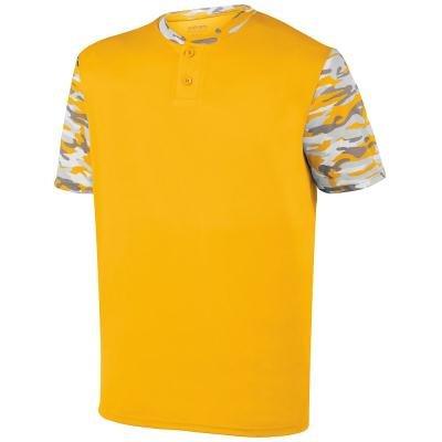 Augusta Sportswear MEN'S POP FLY JERSEY S Gold/Gold Mod (T-shirt Jersey Augusta)