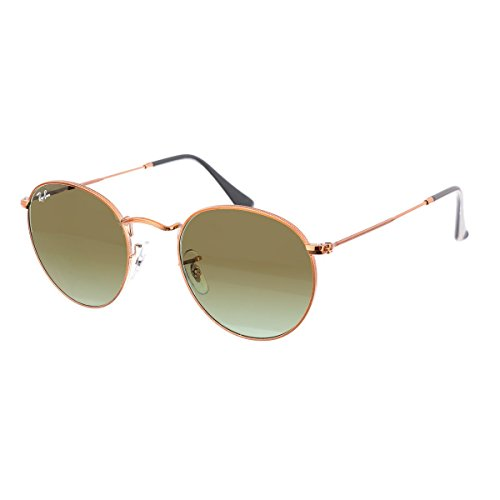 Ray-Ban Herren Sonnenbrille Rb 3447 Shiny Medium Bronze/Green Gradient Brown 53