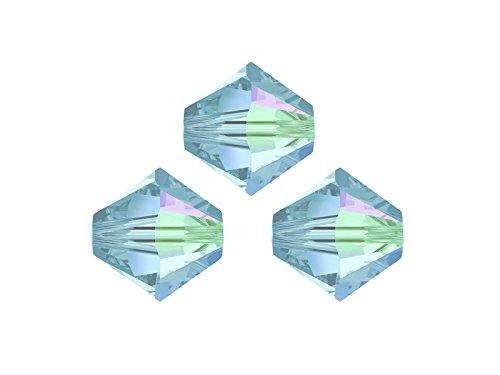Perline Swarovski, 5328,bicono, cono doppio, 6mm, 20pezzi, cristallo, giallo, nero, 01 crystal AB*