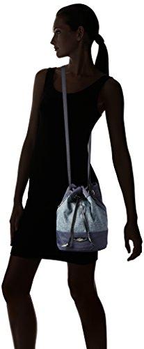 Kipling Dominica Kc, Borsa a tracolla donna Taglia unica Blu (REF35L Woven Haven)