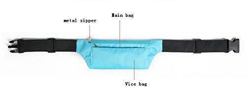 FZHLY Thin Multi-Funktions-Lauf Taschen Beiläufige Wasserdichte Taschen Green