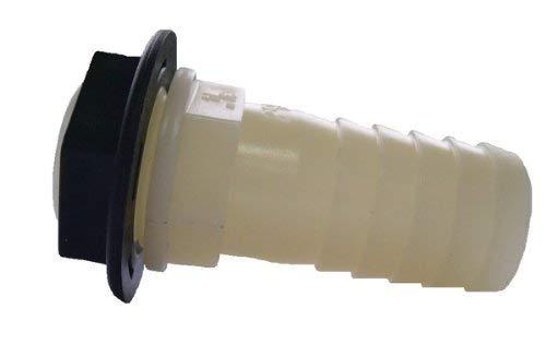 Boutté KITRC Embout plastique pr jumelage cuves et trop plein male 20x27 tuyau ø25, Blanc