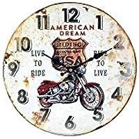 Watches, Parts & Accessories Reloj De Pared Garage Diseño Club De La Motocicleta Acrylglas Impreso