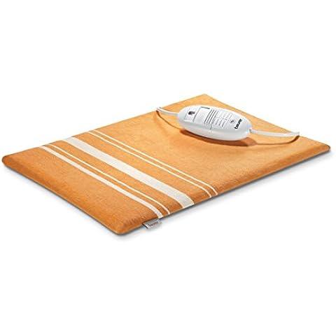 Beurer HK-35 - Almohadilla electrónica, 30 x 40 cm, funda lavable, color naranja