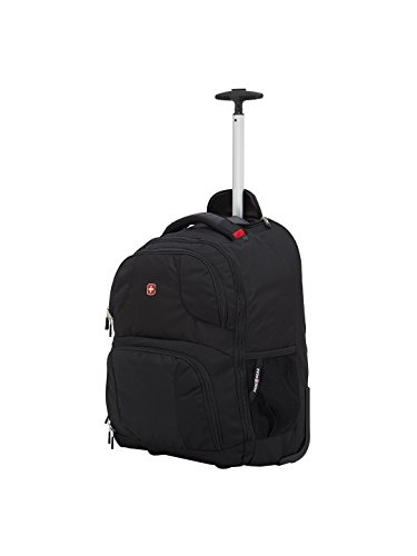 "Swiss Gear 18.5"" Rolling Computer Backpack 38 L Trolley Laptop Backpack (Black) Image 3"