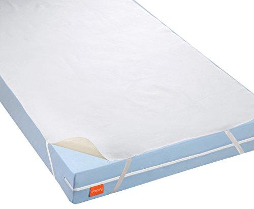 sleepling 191167 wasserundurchlässige Molton Matratzenauflage Inkontinenzauflage mit atmungsaktiver Beschichtung, 140 x 200 cm bis 160 x 200 cm, weiß