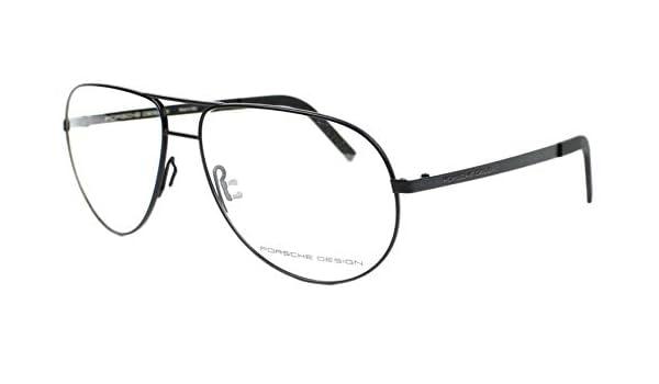 Schwarz Porsche Design Brillengestelle P8280-A-59 Aviator Brillengestelle 59