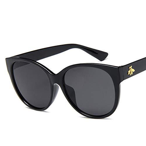 Yangjing-hl Designer-Sonnenbrille Oval Small Bee Sonnenbrille Retro-Sonnenbrille der Marke Eyewear Elegante Damen-Sonnenbrille für