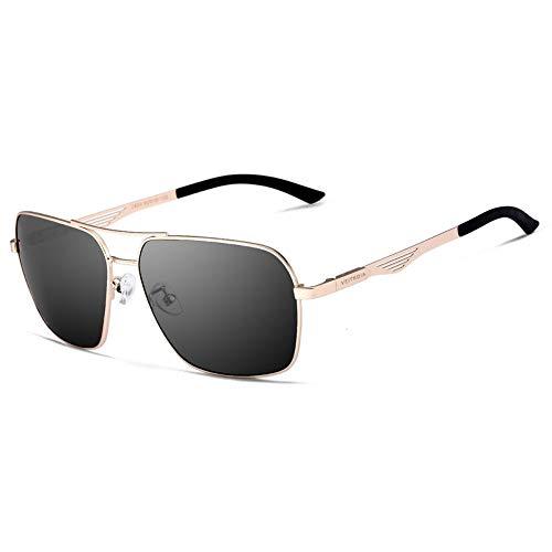 f2f57fa14e HUWAIYUNDONG Sunglasses Veithdia Polarized Men'S Rose Gold Black Square  Vintage Sun Glasses Male Eyewear Accessories Sunglasses