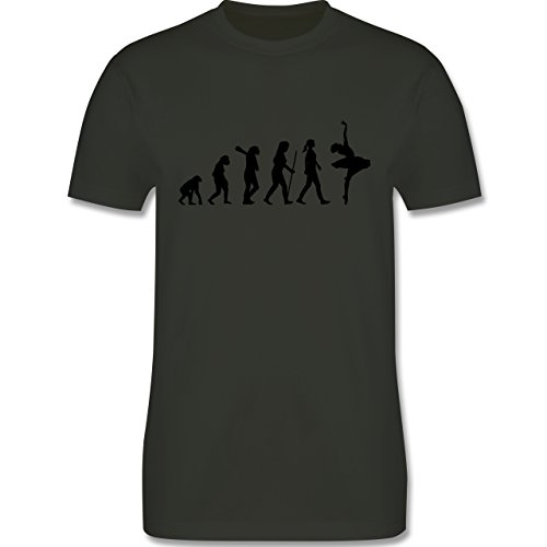 Evolution - Ballett Evolution - Herren Premium T-Shirt Army Grün